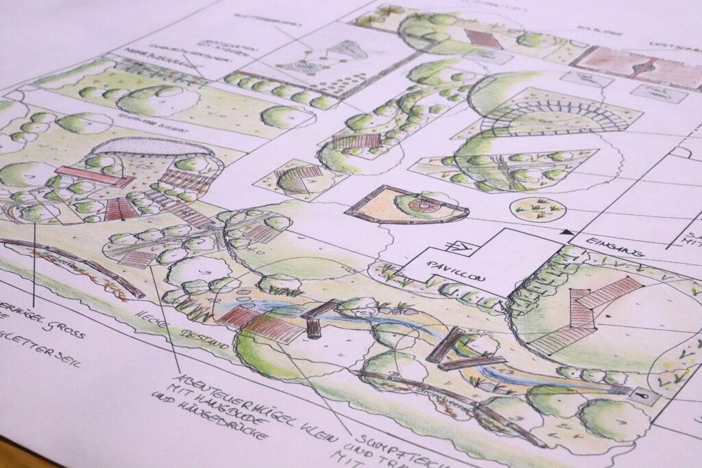 Plan Schulgarten - Naturgartenplan