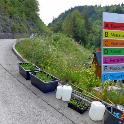Naturnahes Betriebsgelände des Abfallverbandes Tirol Mitte